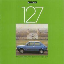 FIAT 127 900L 1050L 1050C 1050 CL SPORT 1979-81 ORIGINALE UK SALES BROCHURE