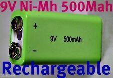 1 Battery 9V NiMh 500mAh Rechargeable 6LR61 6F22 Accu Batterie Pile Accus PP3