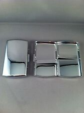 SMALL Highly Polished Chrome Double Sided Cigarette Case - King Size