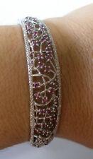Plata de Ley Original Rodolita & Brazalete de diamantes