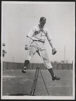 "1937 Orig DODGERS Press Photo - ""Brooklyn Pitcher Exercising"""