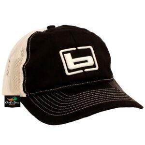 NEW BANDED GEAR CHINO TWILL MESH BACK TRUCKER CAP HAT BLACK W/ LOGO ADJUSTABLE