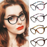 Cat Eye Womens Optical Eyeglasses Frame Myopia Clear Lens Glasses Spectacles New