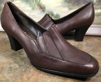 """Mountain Lake Loafer 6W NEW Block heel brown leather """"Suzie"""" Oxford"""