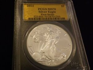 2014    Eagle     First Strike  Gold Label    PCGS  MS 70