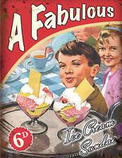 années 50 diner Crème Glacée Sundae rétro café cuisine Salons de thé moyen métal