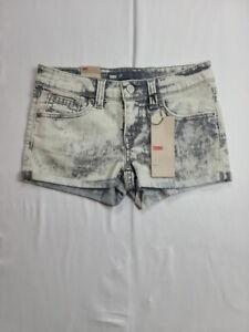 Levi's Women's Sz 24 (26 MEASURED) Stretch Cut-Off Acid Wash Gray Shorts $48