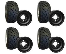 "(4) RHOX RXAL A/T Golf Cart Tire and 8"" Black Steel Wheel Combo Set of 4"