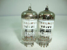 2 X CV455 CHELMER VALVE. NOS TUBES, BLACK PLATES, BIG GETTER,