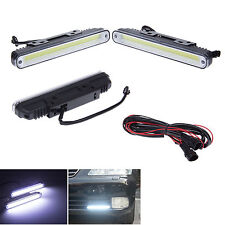 2Pc Car Universal Waterproof COB LED Daytime Running Light DRL Fog Driving Lamp