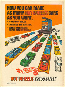 Vintage Hot wheels factory ad reproduction steel street sign kids room decor