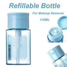110ml Push Down Empty Clear Bottle Makeup Remover Container Refillable Bottle