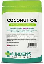 Coconut Oil 1000mg  Capsules (90 pack) [Lindens 5927]