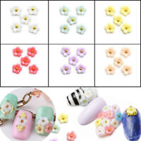 10pcs 3D Nail Art Resin Cherry Blossom Flower Stud Decoration Manicure DIY Tips