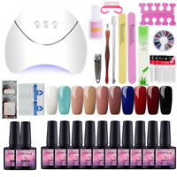 10 Color Gel Nail Polish Soak Off UV LED Dryer Lamp 36W Manicure Tools Care Kit
