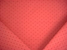 5-7/8Y BRUNSCHWIG ET FILS ROSE / BURNT RED EMBROIDERED STARS UPHOLSTERY FABRIC