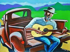 J.J. CALE PRINT poster country tulsa sound ford pickup truck road escondido cd