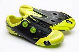 Scott Road RC SL Cycling Shoes Neon Yellow/Black Size 43.5 US 10 Men NEW