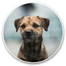 2 x Vinyl Stickers 30cm - Border Terrier Dog Puppy Pet  #44426