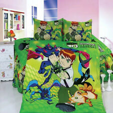 Ben 10 Single Size Bed Quilt Doona Duvet Cover Set Bedding Pillow Case Green