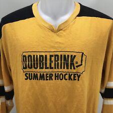 Hamilton Ontario Doublerink Barton St Vtg 70s Summer Hockey Jersey Mens Large