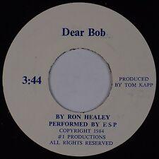 RON HEALEY: Dear Bob RARE BALTIMORE COLTS Bob Irsay 45 Obscure Pop '84 Novelty