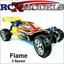 Nitro RC Car Petrol Buggy Radio/Remote Control 1/10 RTR 4x4 4WD 2 Speed Fast UK!
