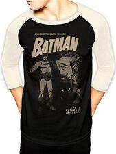 Batman two-face retro baseball shirt t-shirt à manches longues licence top noir s