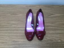 "ISAAC MIZAHI ""JASMINE"" RED PATENT LEATHER LOAFER HEELS SZ 9 *002868*"