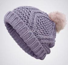 Urban Pompom Knit Oversize Women's Baggy Beanie Slouchy Winter Hat Ski Cap