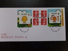 G.B. Mr Men Little Miss s/adhesive Retail Booklet Pane FDC
