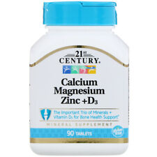 21st Century Calcium Magnesium Zinc + D3 - 90 tablets (free same day shipping)