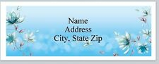 Personalized Address Labels Beautiful Blue Flowers Buy 3 get 1 free (P 594)