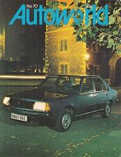 Renault Autoworld Magazine No 70 Early 1979 UK Market Brochure