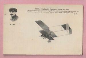 Aviation, French, Biplan H. Farman, Pilote par bill, WW1.