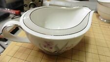 HALSEY CHINA JAPAN EVERGLADE CREAMER PATTERN # 400 PINK GRAY FLORAL