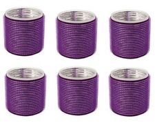 RickyCare PURPLE Self Hold Thermal Rollers ,hair curls- 6PC- NEW DVD