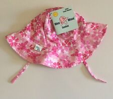 NWT Wee Wave SUN HAT ~Infant/Toddler Small/Medium~fits 13 lbs-22 Pink w Flowers