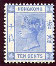 Hong Kong 1900 QV 10c ultramarine MLH. SG 59. Sc 45.