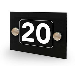 Hotel Room Number Guest House White On Black A6 House Number Sign Peronalised