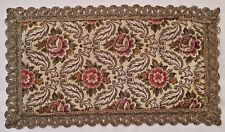 GERMANY-VINTAGE VICTORIAN FLORAL GOLD TONE METAL THREAD COASTER DOILY PLACEMAT