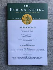 The Hudson Review : Literature : Spring 2021 : NEW