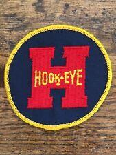 "Vtg Hook-Eye 3"" Sew On Embroidered Patch Badge Hook Eye"