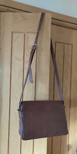 Enny Vintage Brown Italian Nappa Leather Shoulder Messenger Bag   VGC
