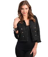 Double-breasted bouclé black blazer by Zynga size M