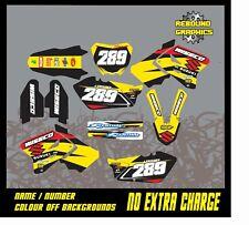 Suzuki RM 65 85 125 250 450 kit de gráficos H. calcomanías Pegatina Kit Motocross MX
