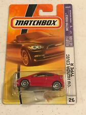 2008 Matchbox Metro Rides '08 Honda Civic Type R Red # 26 Vhtf !
