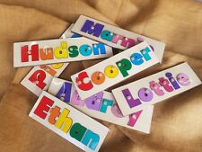 Personalised Name Puzzle With Handles