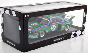 1/18 Scale MINICHAMPS 1976 BMW 3.5 CSL No.43, 24h Le Mans Gösser Limited to 300
