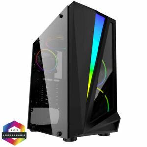 Fast Gaming PC Computer Bundle  Quad Core i5 8GB 1TB Win10 2GB GT710 Speaker